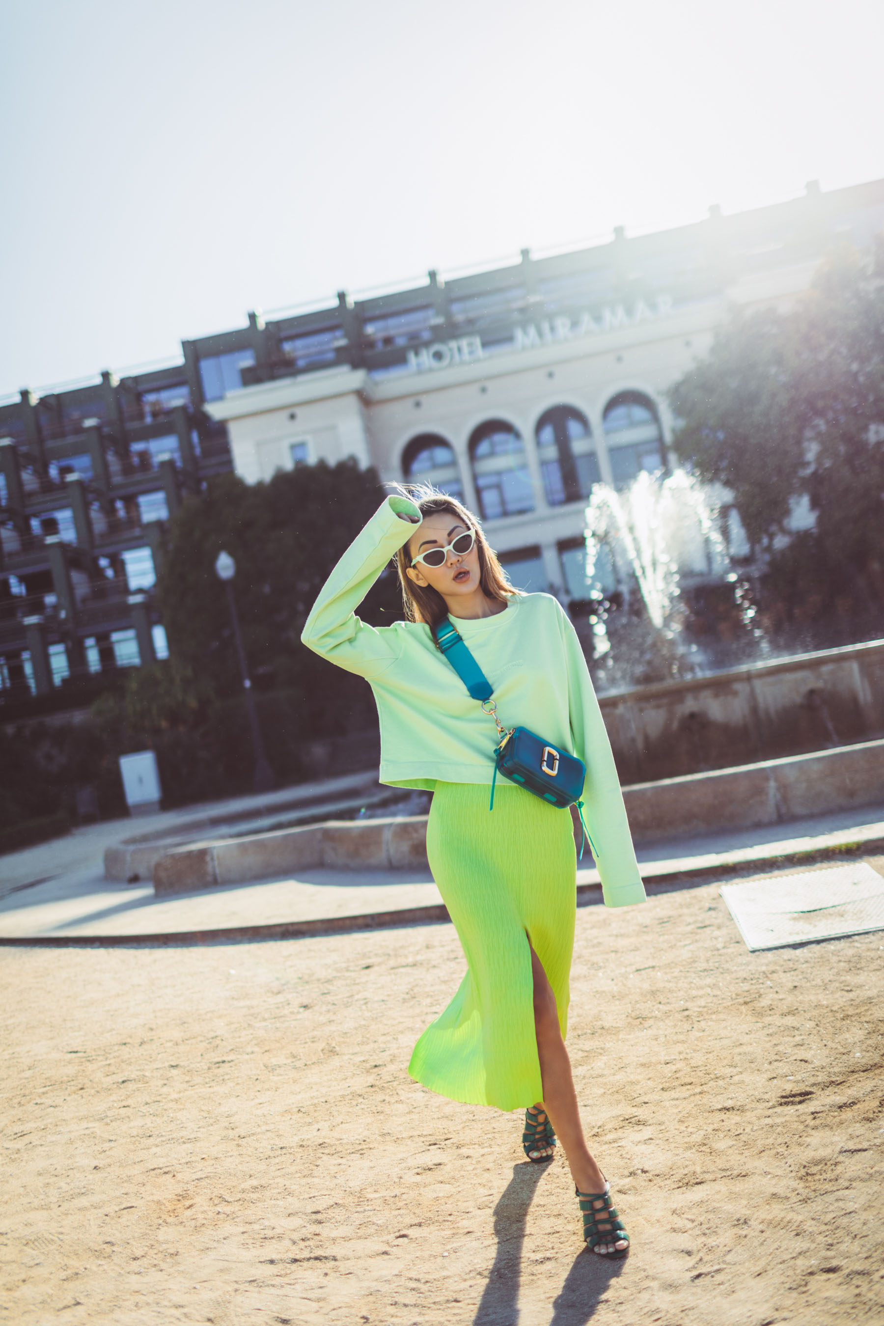 summer fashion staples, neon outfit, neon knits // Notjessfashion.com
