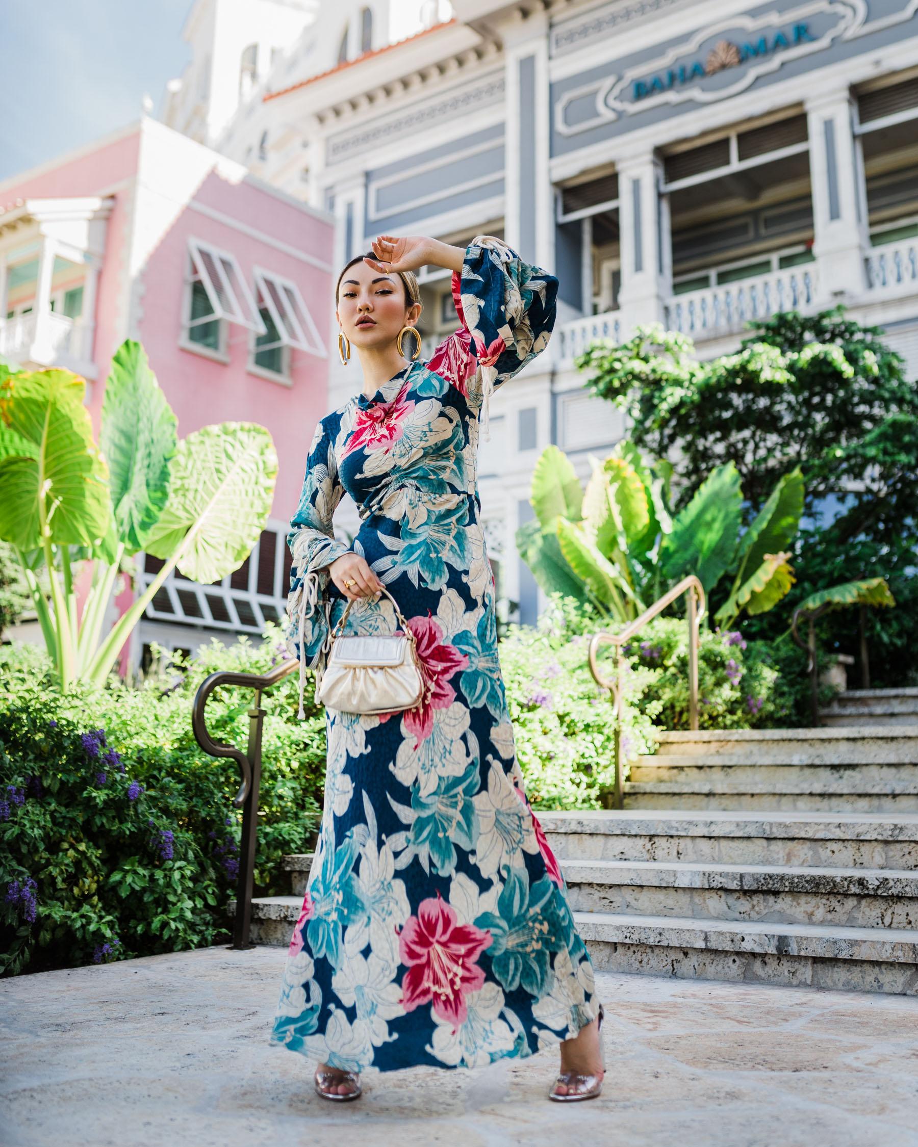 summer vacation essentials, etro floral dress, bold floral dress // Notjessfashion.com