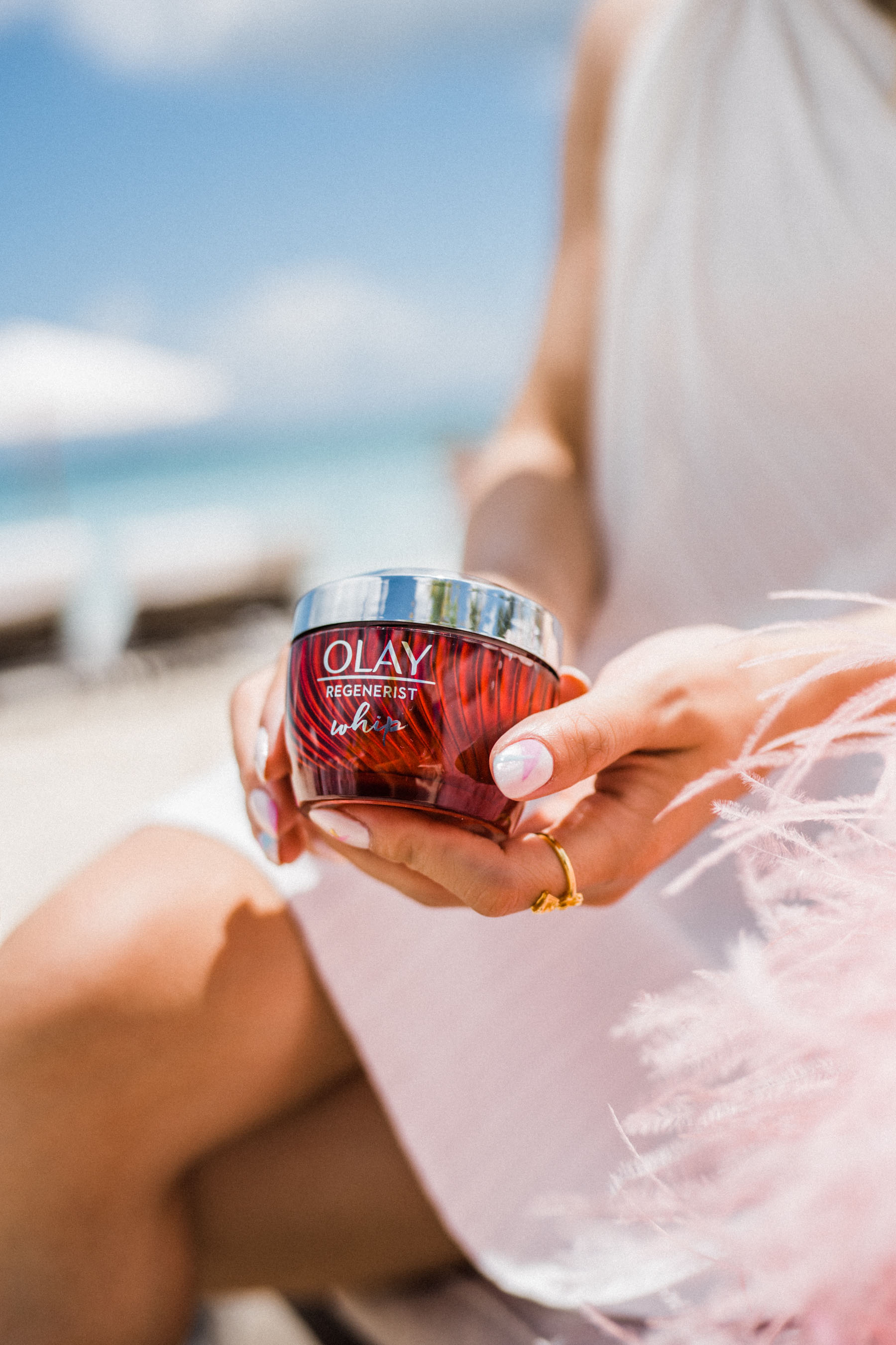essential moisturizers for fresh summer skin, Olay regenerist whip face moisturizer // Notjessfashion.com