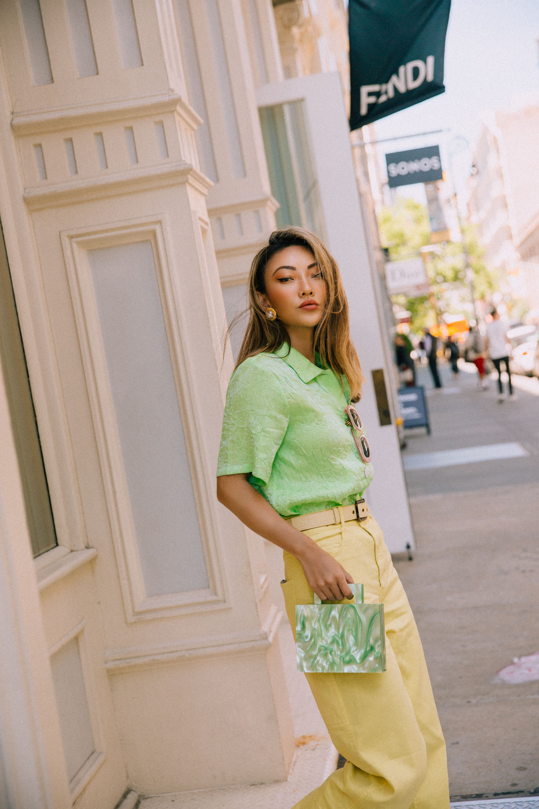 green and yellow outfit // Notjessfashion.com