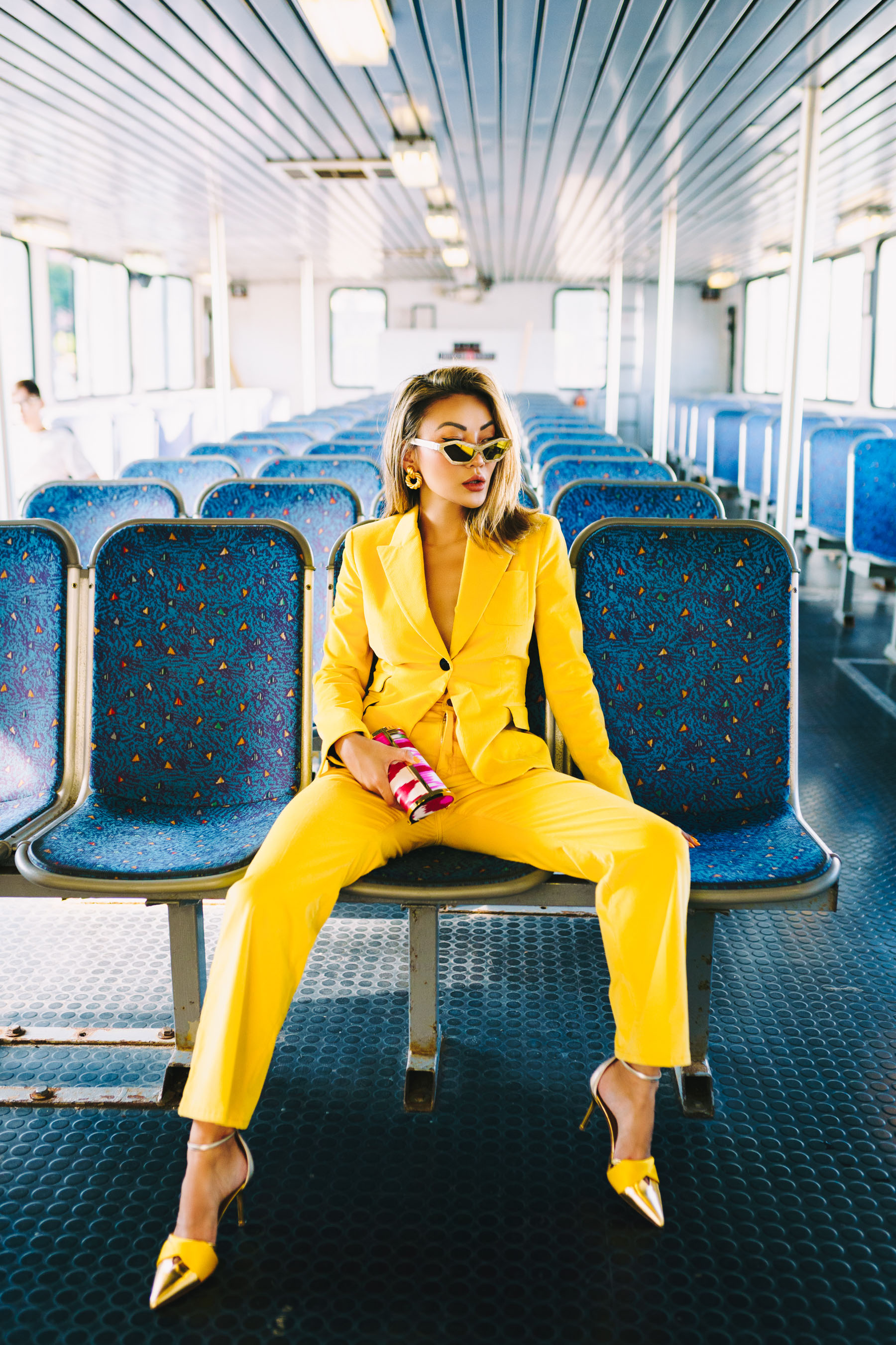 biggest fall fashion trends 2019, yellow suit // Notjessfashion.com