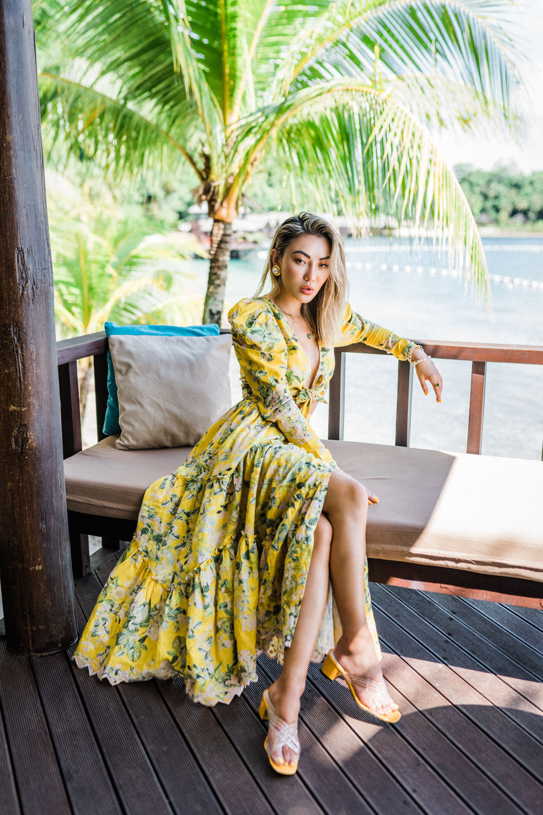 summer trends to retire, tropical dress, matching set, floral dress, clear pvc heels // Notjessfashion.com