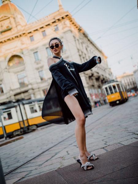 evening looks, little black dress, jeweled sandals, fashion week street style // Notjessfashion.com